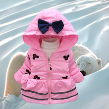 Girl clothes, winter new Minnie, baby girl jacket, children winter cartoon, lovely children warm fashion, hooded thick coat, 2-4 brand baby infant girls fur winter warm coat 2018 cloak jacket thick warm clothes baby girl cute hooded long sleeve coats jacket