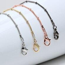 24 pulgadas 1,2mm collar de cadena de serpiente oro rosa/oro/plata/Negro Maxi collares joyería de moda YH-005