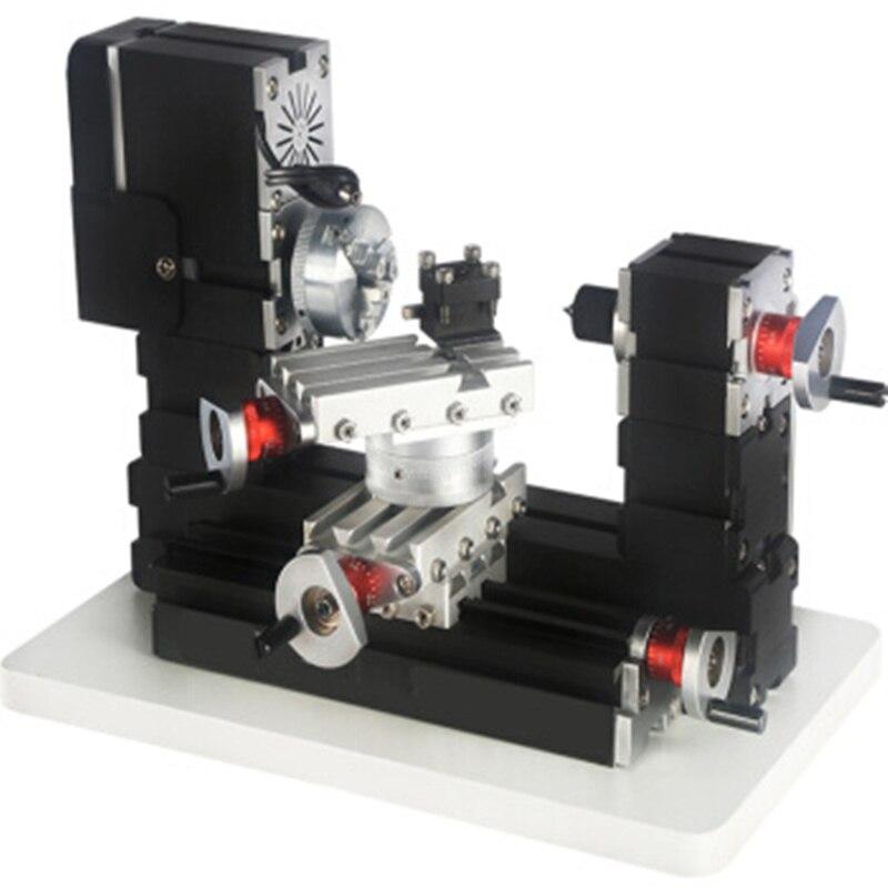 Купить с кэшбэком High-power miniature metal machine 60W high-power electroplating rotary lathe single lathe