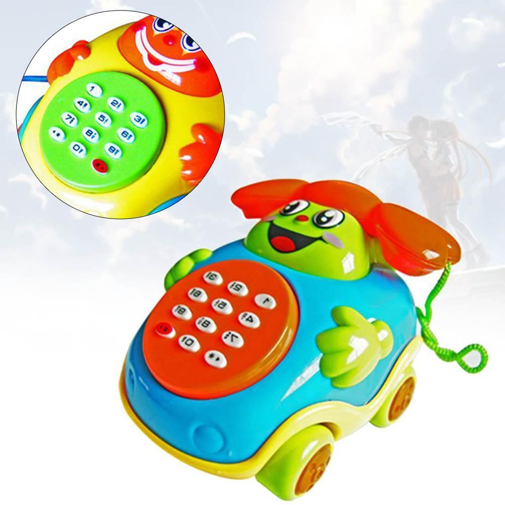 Fun Musical Educational Cartoon Phone Developmental Music Toy For Baby Kids