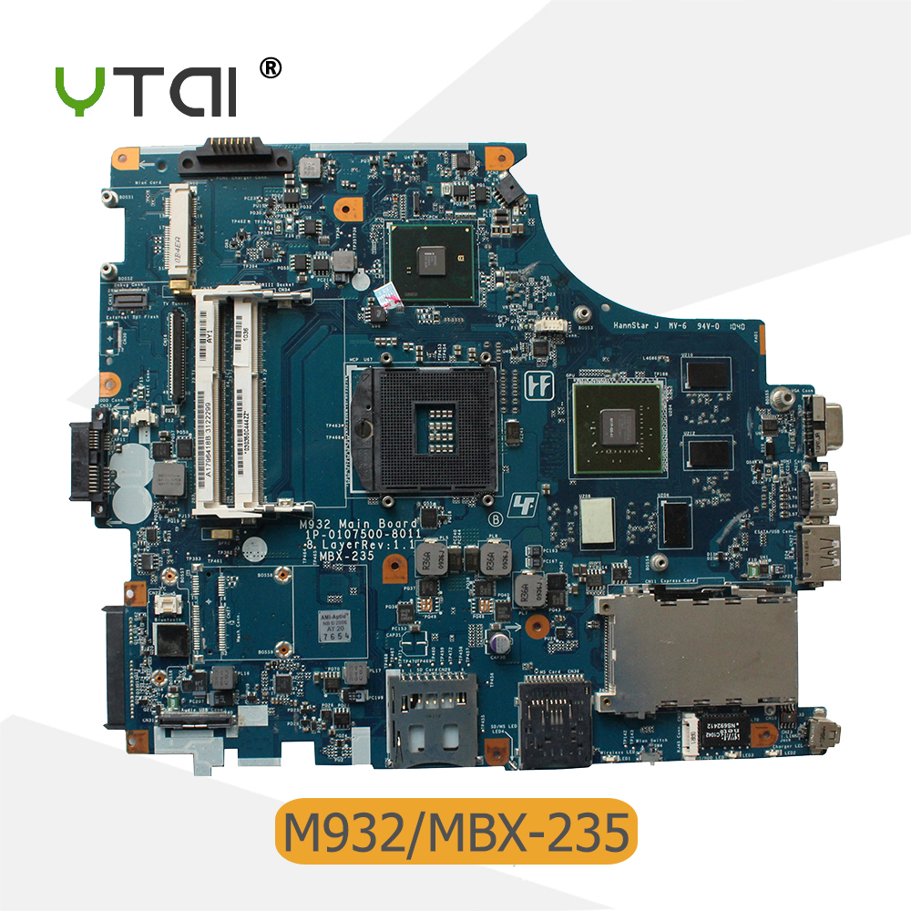 YTAI for sony M932 mainboard MBX-235 Rev:1.1 laptop motherboard A1796418B 1P-0107500-8011 PM55 PGA-988A mainboard 100% tested mbx 265 for sony svt13 motherboard with cpu i3 3217u 2gb memory pc motherboard professional wholesale 100
