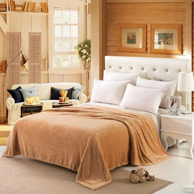CAMMITEVER بلون الفانيلا بطانية الكبار الدافئة بطانية سوبر لينة المرجان الصوف بطانية الكبار مزدوجة أريكة تتحول لسرير