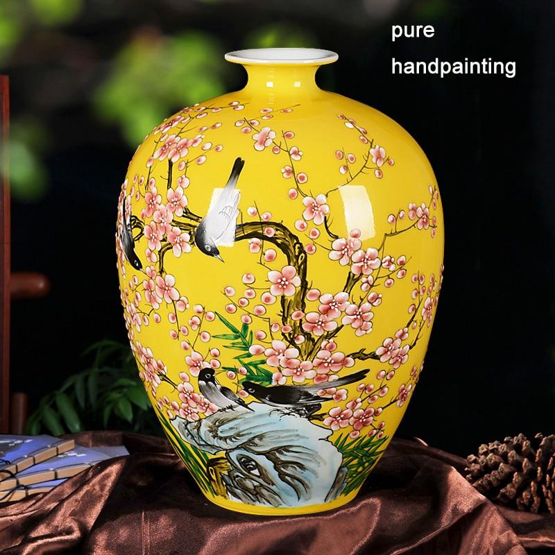 Jingdezhen Ceramics Powder Enamel Youligong Porcelain Vase