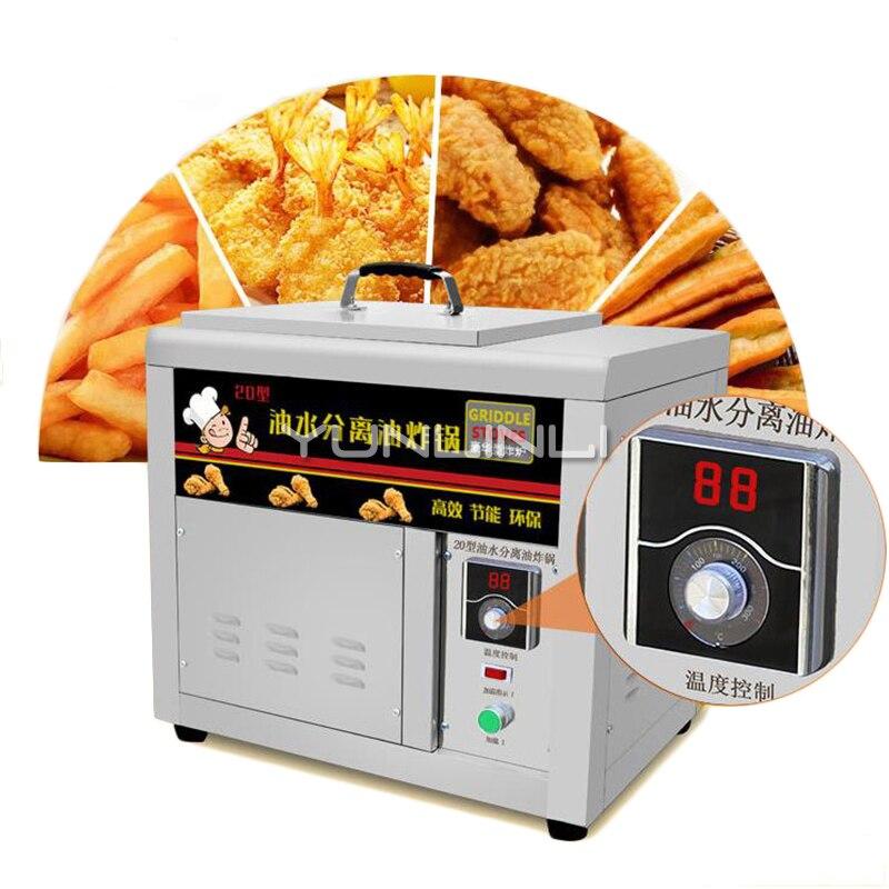 Friteuse électrique commerciale de séparation d'eau d'huile de friteuse 22L poêle électrique d'acier inoxydable