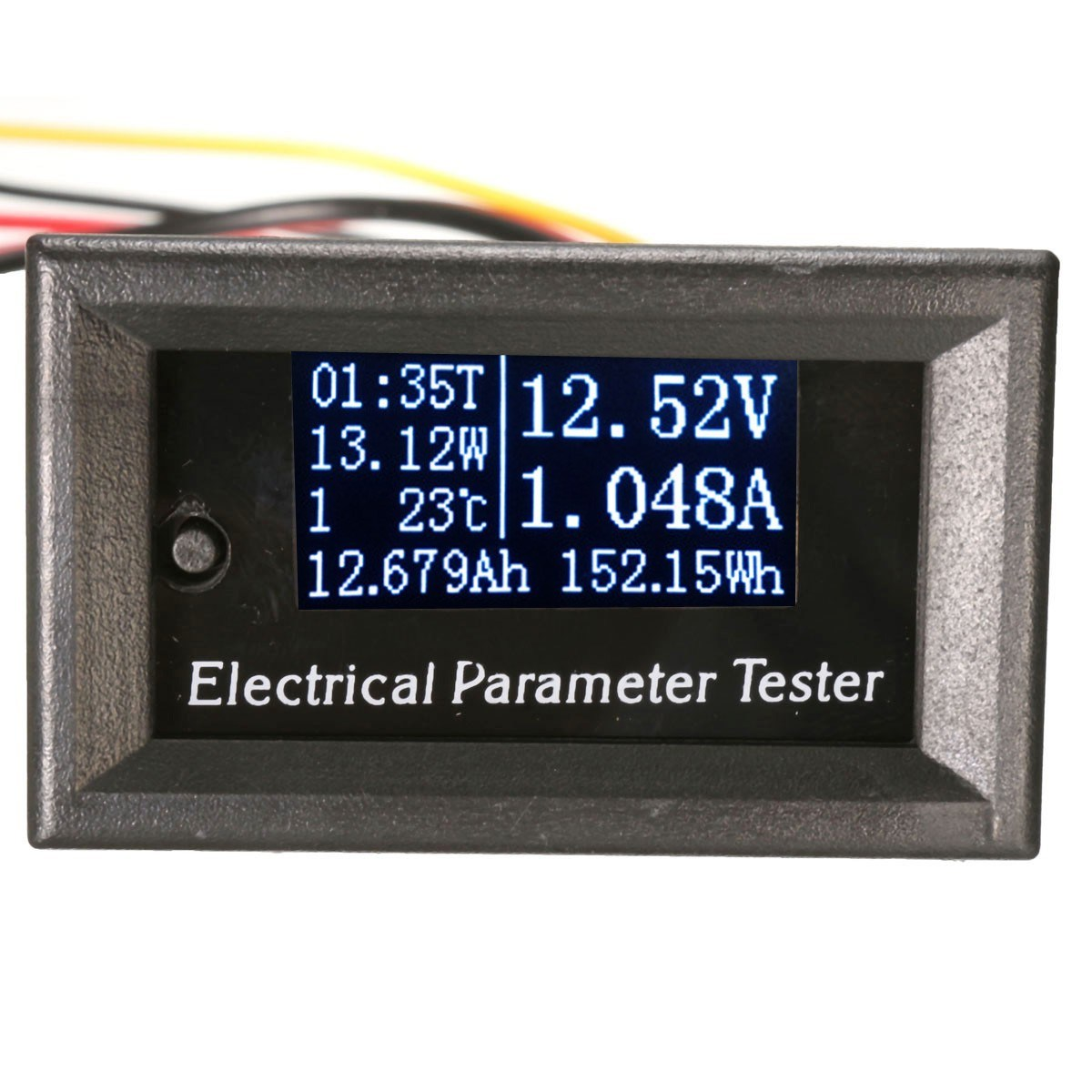 NEW LCD 33v 10A DC Combo Meter Voltage Current Power Capacity Battery Monitor 28x46mm