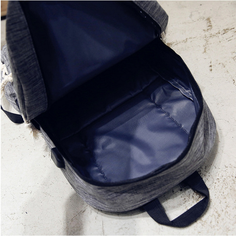 New Usb Canvas Women School Bags for Girls Teenage Boys Back Pack Rucksack College Students Bookbag Ladies Backpack Shoulder Bag