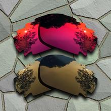 สีม่วงสีแดงและทองแดงทองแดงแว่นตากันแดด Polarized เลนส์เปลี่ยนเลนส์สำหรับ Oakley Jawbone Vented เสื้อแจ็คเก็ต