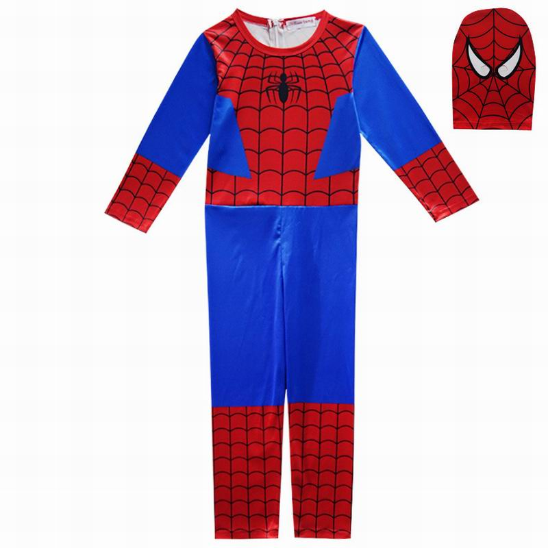 Spiderman Cosplay  Costumes Boys Jumpsuits Superhero Cosplay Children Festive Party Supplies Kids Spider-Man Streetwear