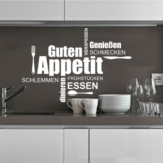 US $8.68 |Deutsch küche wand applique vinyl wand aufkleber wandbild küche  abnehmbare wand kunst poster hause dekoration haus dekoration DW1046 in ...