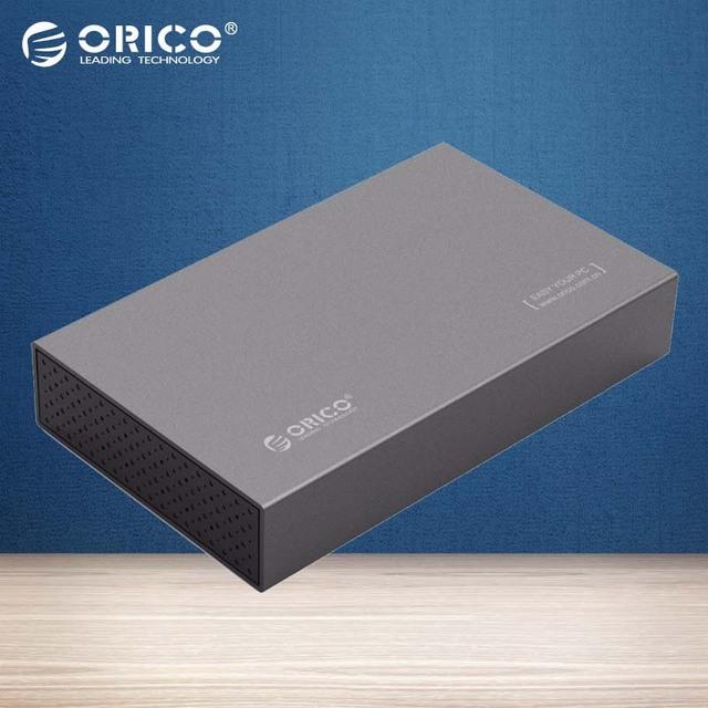 ORICO Alumínio 3.5 polegada USB 3.0 para Gabinete Externo de Disco Rígido até 8 TB SATAIII 3.5 polegada HDD [suporte UASP]-cinza