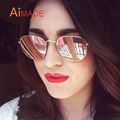 Aimade 2016 New Hexagonal Flat Lenses Polarized Sunglasses Women Men Brand Designer Vintage Aviation Driving Fishing Sun Glasses