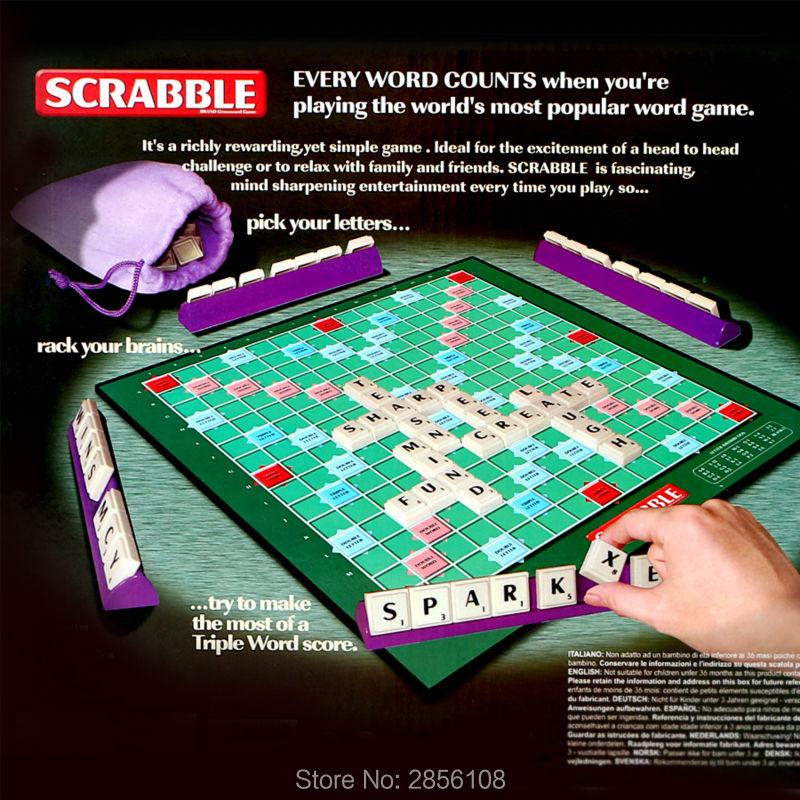 Scrabble Crossword  Board Spelling Game Learn English Crossword Spelling Game Puzzle Game Educational Toys For Family