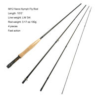 Aventik IM12 3wt 10ft 4SEC Fast Action Nymph Fly Rod 90g Super Light Fly fishing Rod For Nymph Fishing Better Than Redington Rod