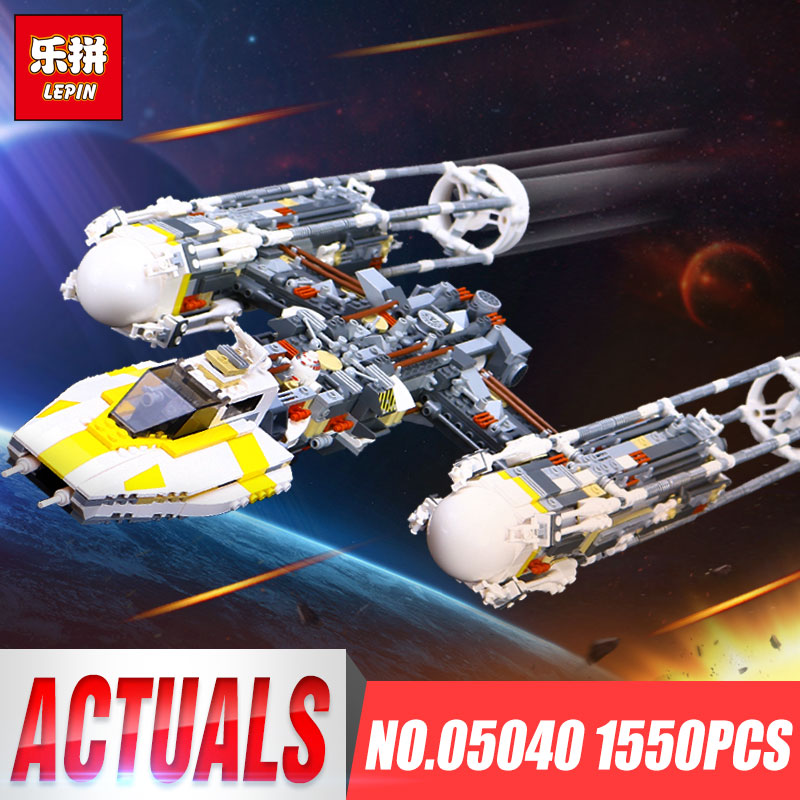 Lepin 05040 Star Series Wars The Y Set Wing Attack Star Model fighter Building Blocks Assembled bricks Toys legoINGlys 10134 lepin 05040 y attack starfighter wing building block assembled brick star series war toys compatible with 10134 educational gift