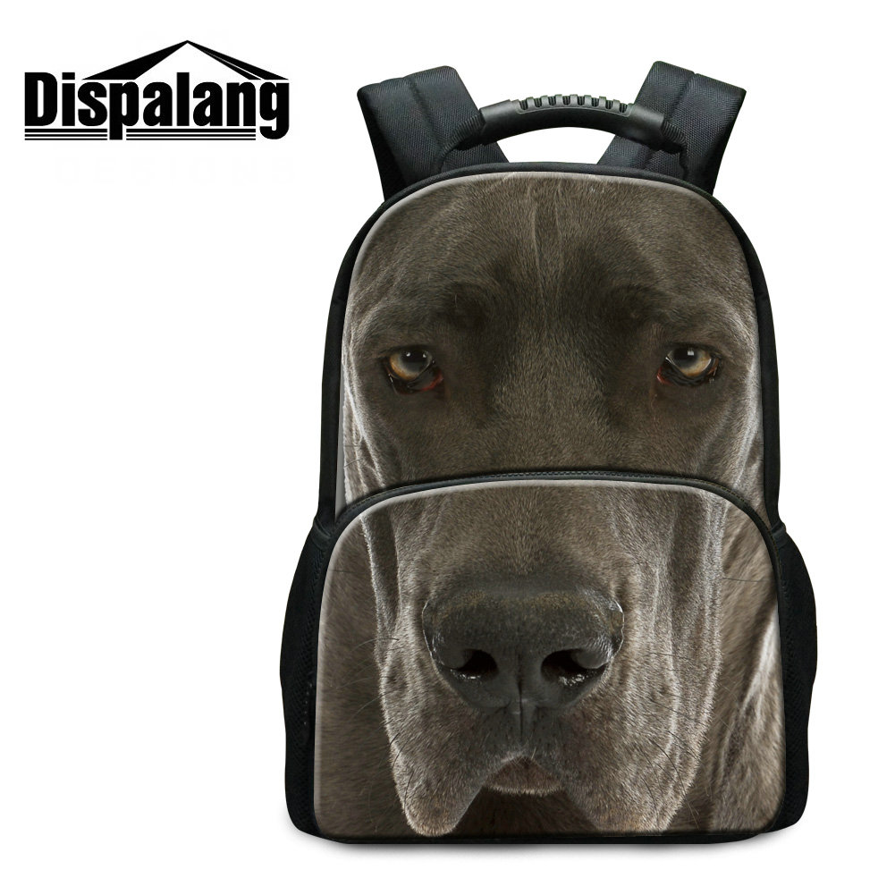 ФОТО Dispalang fashion children 3D dog school bags personalized customized animal felt backpacks for college students men's bagpack