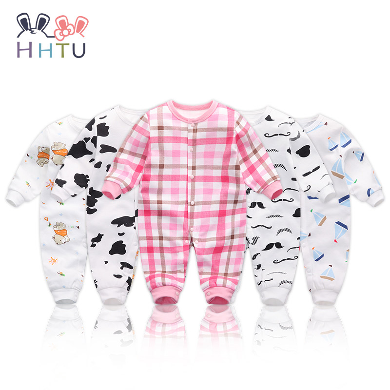 HHTU Baby Rompers Jumpsuits Baby Girls Clothing Children Autumn Newborn Baby Clothes Cotton Long Sleeve Climb Clothes hhtu brand baby rompers boys girls clothing quilted long sleeve jumpsuits newborn clothes boneless sewing children cotton winter