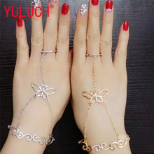 YULUCH Fashion Metal Lobster Butterfly Link Chain Jewelry for Women/Ladies Gold/Silver Plated LOVE Charm Link Chain Bracelets