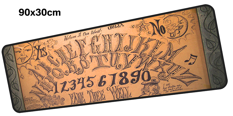 ouija board mousepad gamer 900x300X3MM gaming mouse pad large cool new notebook pc accessories laptop padmouse ergonomic mat