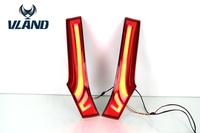 Vland New LED TailLights Column Lamp For Hondas Fit JAZZ 2014 2015 Auto Rear End Tail