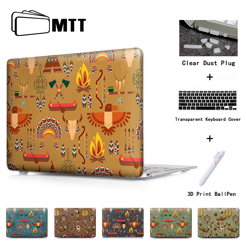 Tribal Totems Design Clear/Matte Case for Macbook Pro Retina 12 13 15 Air 11 13 inch Laptop Bag for Mac Book Pro 13 15 Case ...