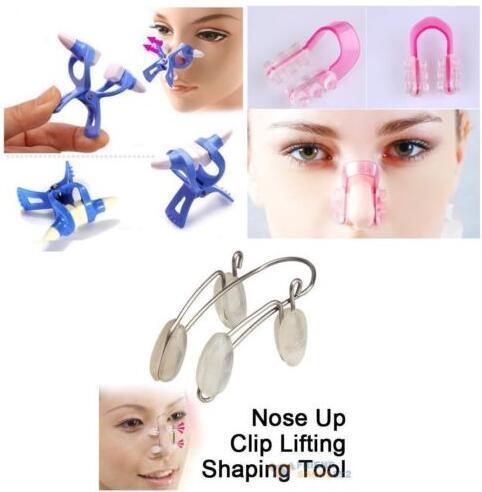 3pcs/lot Magic Nose Shaper Nose Up Right Bridge Lifting Shaping Straightening Beauty Clip Clipper No Pain