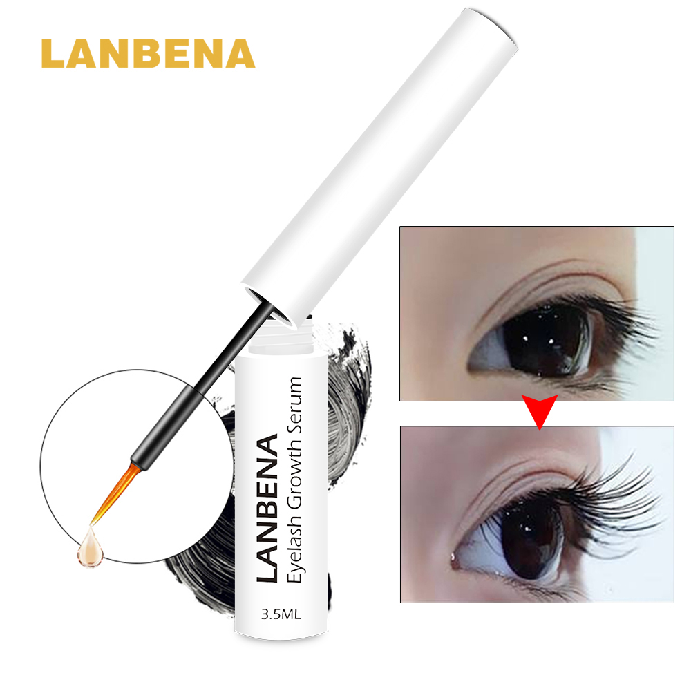 Best Eyelash Growth Serum 2020.Us 3 99 50 Off Lanbena Eyelashes Growth Serum 7 Day Eyelash Enhancer Longer Fuller Thicker Lashes Eyelashes And Eyebrows Enhancer Eyelash Serum In