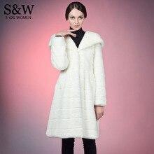5XL 6XL Plus Size Women Warm Winter Coats Long Faux Fur Coat White Synthetic Rabbit Fur Coat Faux Fur Jacket with a big hood