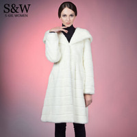 5XL 6XL Plus Size Women Warm Winter Coats Long Faux Fur Coat White Synthetic Rabbit Fur Coat Faux Fur Jacket with a big hood