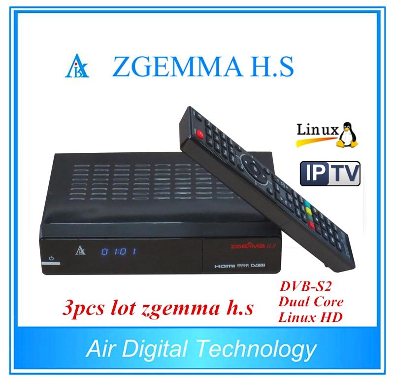 3pcs/lot Original Enigma 2 Linux OS ZGEMMA H .S Dual Core DVB-S/S2 HD Satellite Receiver Support IPTV TF Card 10pcs zgemma star i55 support satip iptv box bcm7362 dual core mainchipset 2000 dmips cpu linux enigma 2 hdmi connection