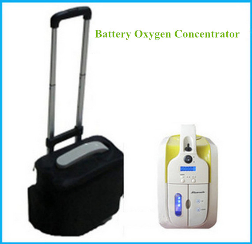 Mini Portable Oxygen Concentrator W/ Battery & Car Adapter 110V-240V DC12V Medical Home Travel Use FDA CE Approved Free Shipping