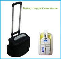 Mini concentrador de oxígeno portátil W/batería y adaptador de coche 110 V-240 V dc12v Médicos inicio viaje uso FDA CE aprobó El envío libre