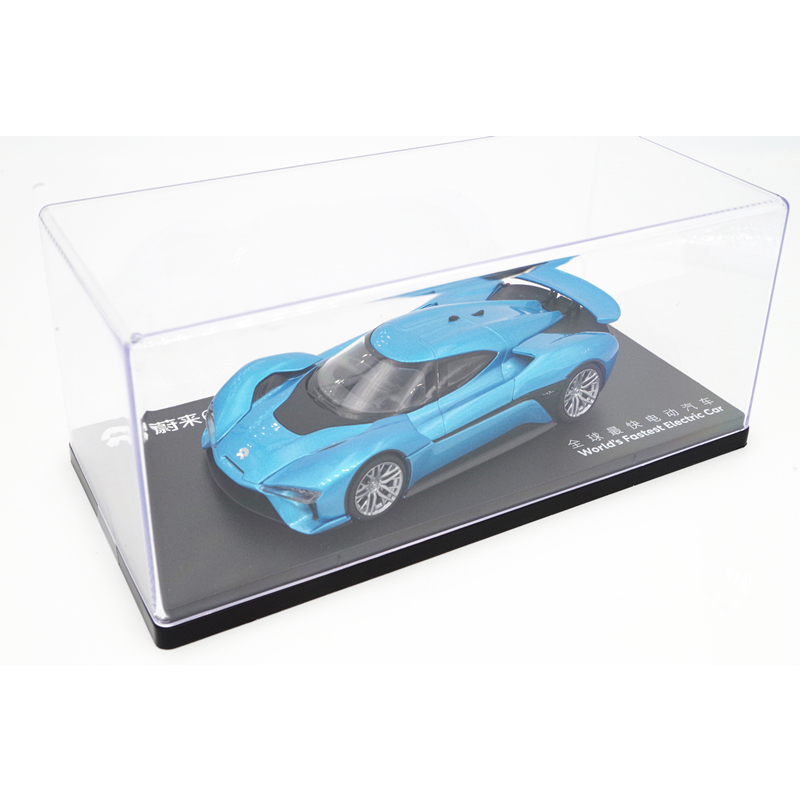 <font><b>1:43</b></font> Diecast Model for Weilai NIO EP9 Blue Tail Wing Spoiler Version Alloy Toy <font><b>Car</b></font> Miniature Collection Gifts China Brand image