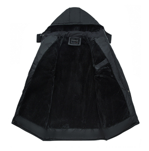 Image 3 - Mwxsd 브랜드 겨울 남성 두꺼운 따뜻한 파카 재킷과 코트 남자 두꺼운 패딩 모피 코트 남성 스탠드 칼라 오버 코트