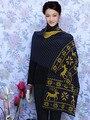 0 200 см Х 45 см Женщины Зима Вязание Шерстяной Шарф Олень Pattern Крючком цветок Шаль Женщины Осень Кашемир шарфы
