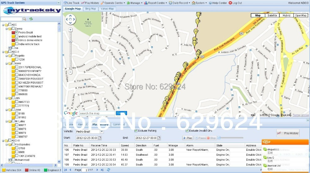 Gps tracking platform system with mobile tracking app for