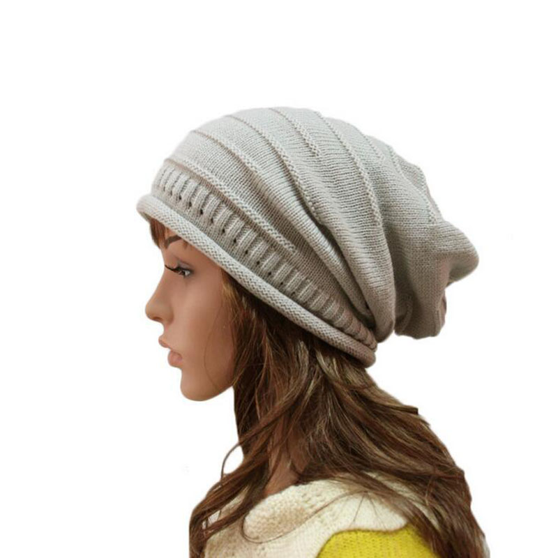Spring Winter Women Beanie Hats Unisex Knitted Warm Wool Skullies Casual Slouch Baggy Gorros Solid Color Caps Christmas Gift 2017 winter women beanie skullies men hiphop hats knitted hat baggy crochet cap bonnets femme en laine homme gorros de lana