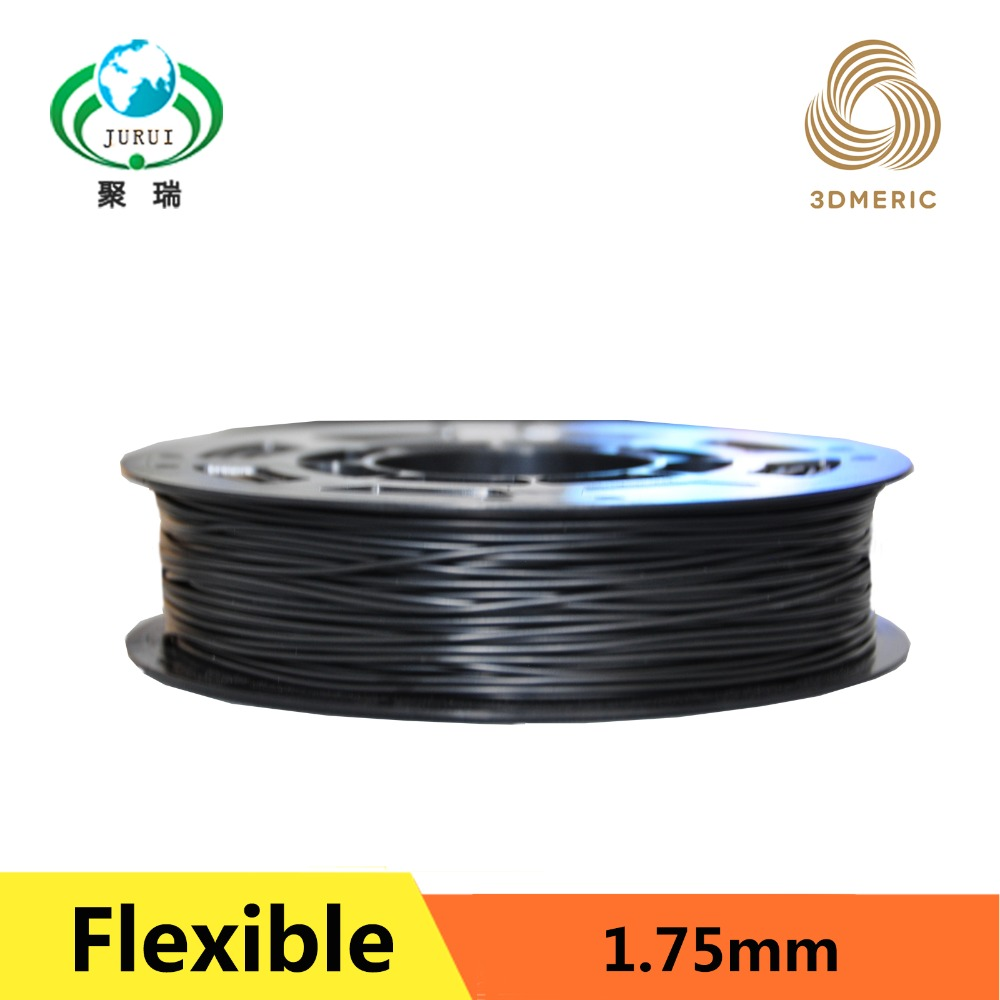 0 25KG 0 5KG 1KG 1 75mm black flexible filament Flex filament rubber filament for 3d