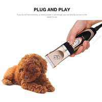 Dropshipping White+Rose Gloden Low Noise Rechargeable Pet Grooming,Dog Clipper with 4 Comb