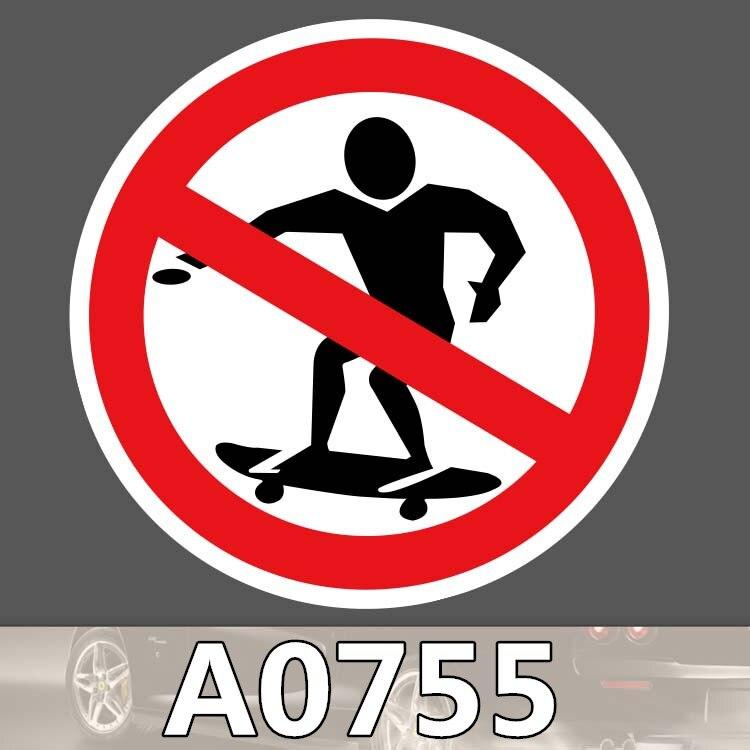 Bevle A0755 No Skateboarding Sign Skateboard Graffiti Notebook Motor Stickers Decal Fridge Waterproof Sticker for Cars