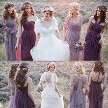 Purple Pink Turquoise Chiffon Long Bridesmaid Dresses Vestido De Festa Wedding Party Dresses Vestidos De Festa Longo C74