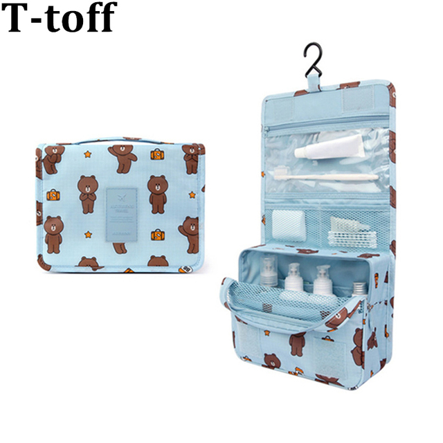 abd4305638ad US $8.99 40% OFF|Travel Toiletry Bag Unisex Women Waterproof Cosmetic Bag  Hanging Travel Makeup bags Wash Toiletry kits Storage Organizer-in Cosmetic  ...
