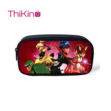 Thikin Ladybug Casual Pencil Bags Pen Bag for Girls  Pen Case Student School Supplies Storage HandBags Pen Purses for Kids veevanv animal wolf printing case holder casual pencil purse cute animal purses kids wallets school case for student pencil bags