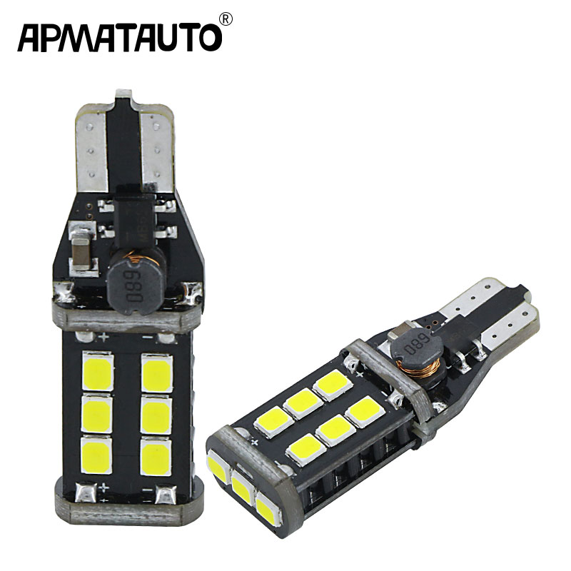 apmatauto 2x t15 w16w led bulbs canbus error free 921 915. Black Bedroom Furniture Sets. Home Design Ideas