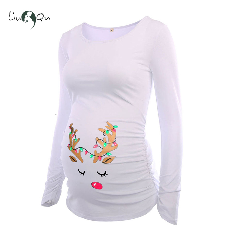 Ugly Christmas Funny Pregnancy Tee Maternity Clothes Bumps R