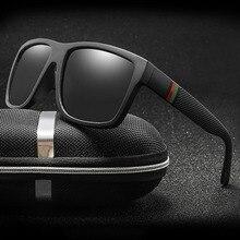 Classic Men Polarized Sunglasses Vintage Brand Design Square Driving Sun Glasses