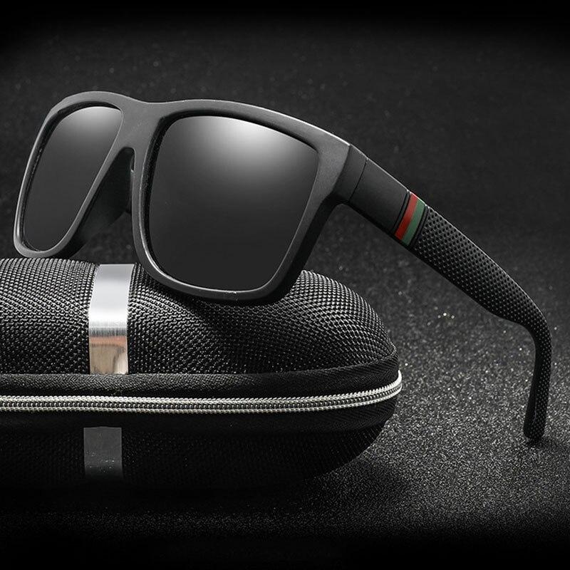 Classique hommes lunettes de soleil polarisées Vintage marque Design carré conduite lunettes de soleil rétro nuances lunettes Oculos de sol UV400 Gafas