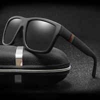 Gafas de sol polarizadas clásicas para hombre, Gafas de sol cuadradas con diseño de marca Vintage, Gafas de sol Retro, Gafas de sol UV400
