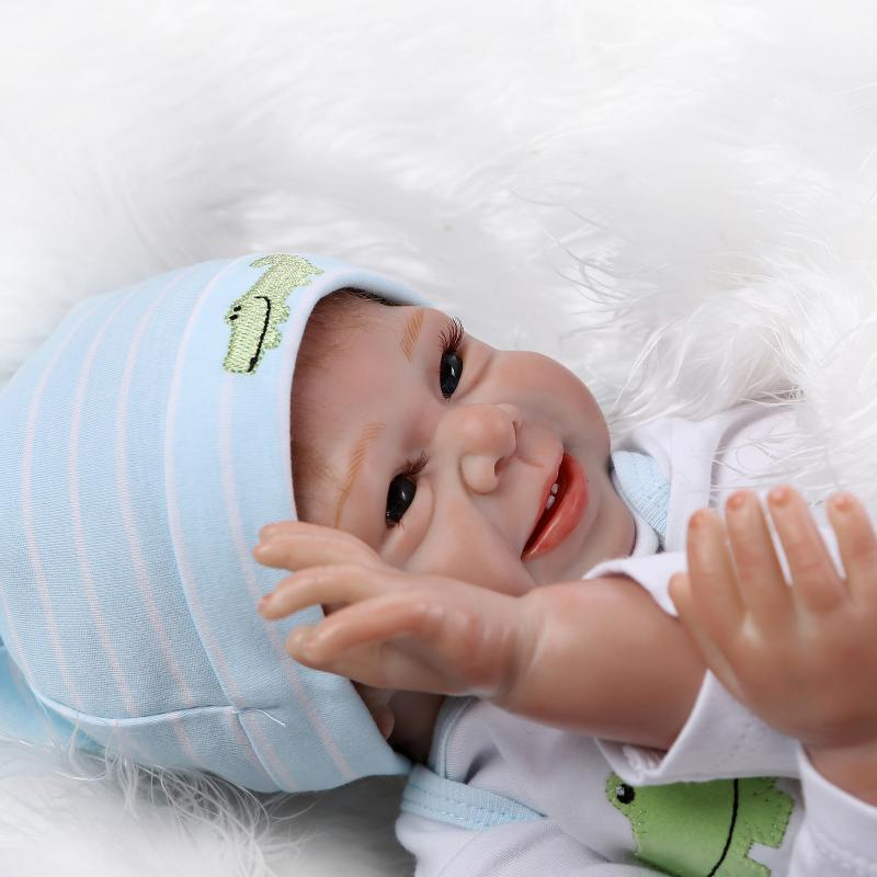 Silicone reborn baby doll toys for girls play house lifelike newborn reborn boys babies birthday presnet gift collectable dolls 55cm silicone reborn baby doll toy lifelike npkcollection baby reborn doll newborn boys babies doll high end gift for girl kid