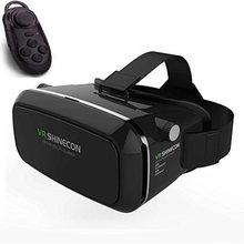 VR ShineconพลาสติกVRแว่นตา3Dของg oogleกระดาษแข็งHDแว่นตาสำหรับ3.5-6.0นิ้วโทรศัพท์+เมาส์ไร้สายบลูทูธgamepad VRกล่อง3.0
