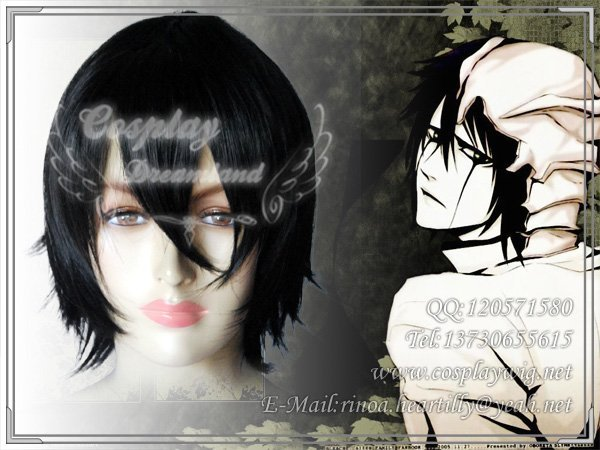 Wholesale Free Shipping Hot Selling Cheapest Halloween Bleach Cosplay Wig Ulquiorra Wig without headband